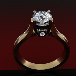 Passion Fire Elegance two tone with plat head .32ctw
