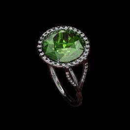Sea Foam and diamond ring