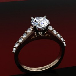Passion Fire Scaoolped Cathedral in rose and white gold