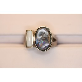 Opal and Silver Ring- Woodstock Collection