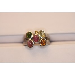 Multi-color Tourmaline ring