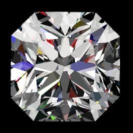 One ct Passion Fire Diamond, F SI-1 loose square