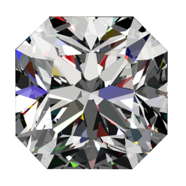 One ct Passion Fire Diamond, G SI-1 loose square