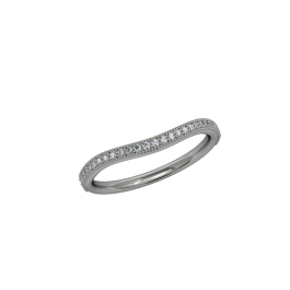 Infinity Milgrain Band - Curved - White 2