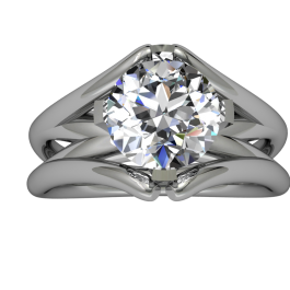 Passion Fire Split Cathedral Style Solitaire 1