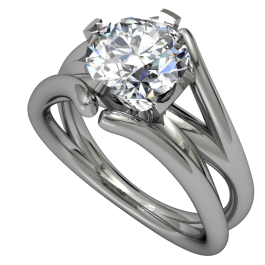 Passion Fire Split Cathedral Style Solitaire 4