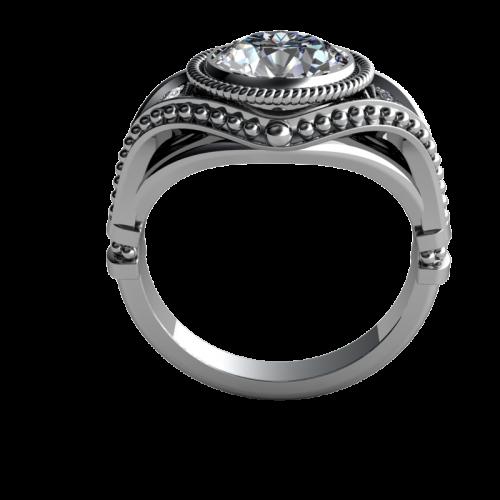 Wedding Band Oxford: Oxford 14k White Diamond