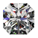 1ct Passion Fire Diamond, I SI-1 loose square