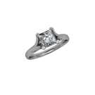 Allure Cathedral Solitaire Square- White 02