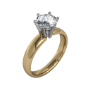 Classic flared solitaire- 6 prong - Yellow 1