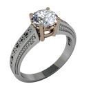 Georgetown Filigree Solitaire 02
