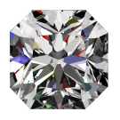 1 1/4 ct Passion Fire Diamond, H SI-1 loose square