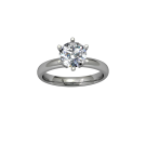 Classic Flared Solitaire Two Tone- 6 Prong 2