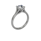 Allure Cathedral Solitaire 18kt White 05
