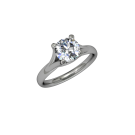 Allure Cathedral Solitaire platinum 05