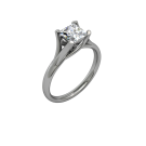Allure Cathedral Solitaire Square- Rose 01