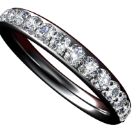 3mm 1/2ct Diamond Band