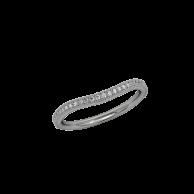 Infinity Milgrain Band - Curved - White