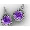 Iris amethyst and diamond earrings