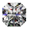 1 1/4ct Passion Fire Diamond, I SI-1 loose square